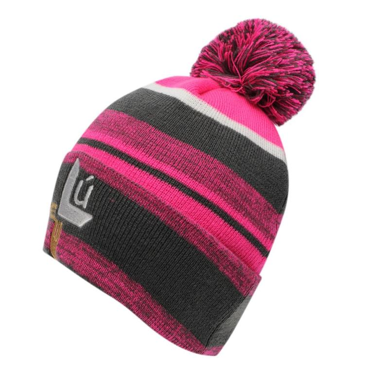 Official GAA Beanie Hat Ladies Charcoal/Pink