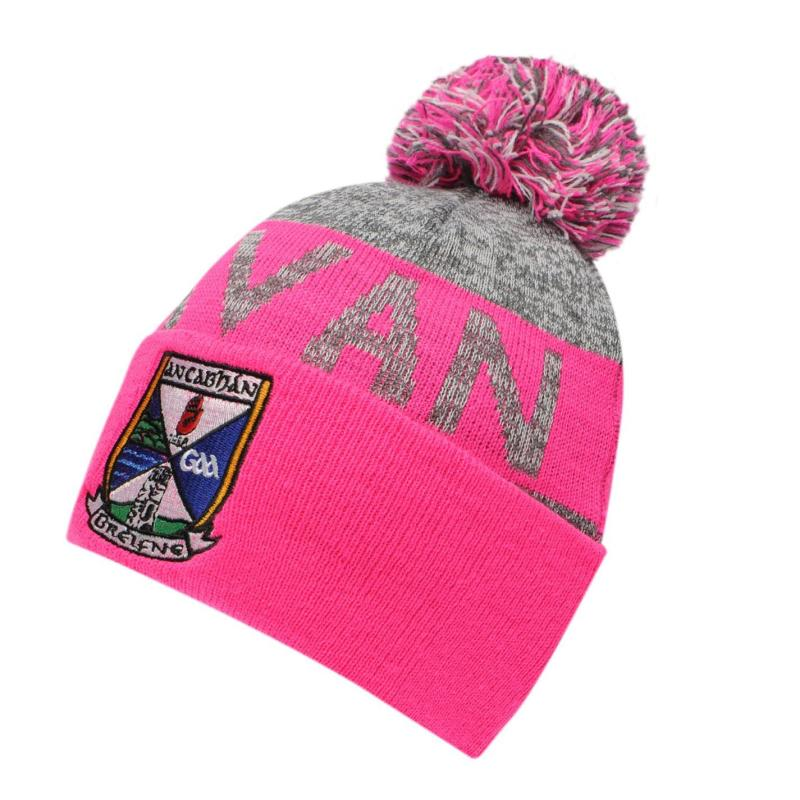 Official GAA Beanie Ladies Charcoal/Pink
