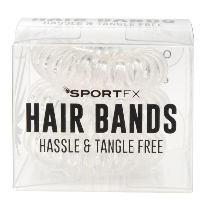 SportFX 3 Pack Hair Bands Clear