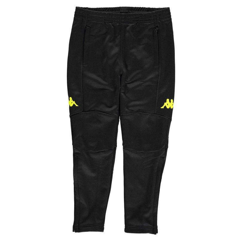 Tepláky Kappa Premium Training Pants Junior Boys Navy/Neon