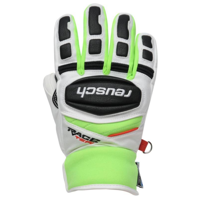 Marker Race R Tex Ski Gloves Juniors White/Green