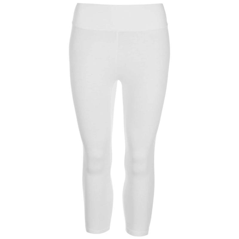 Miso Three Quarter High Waisted Leggings Ladies White