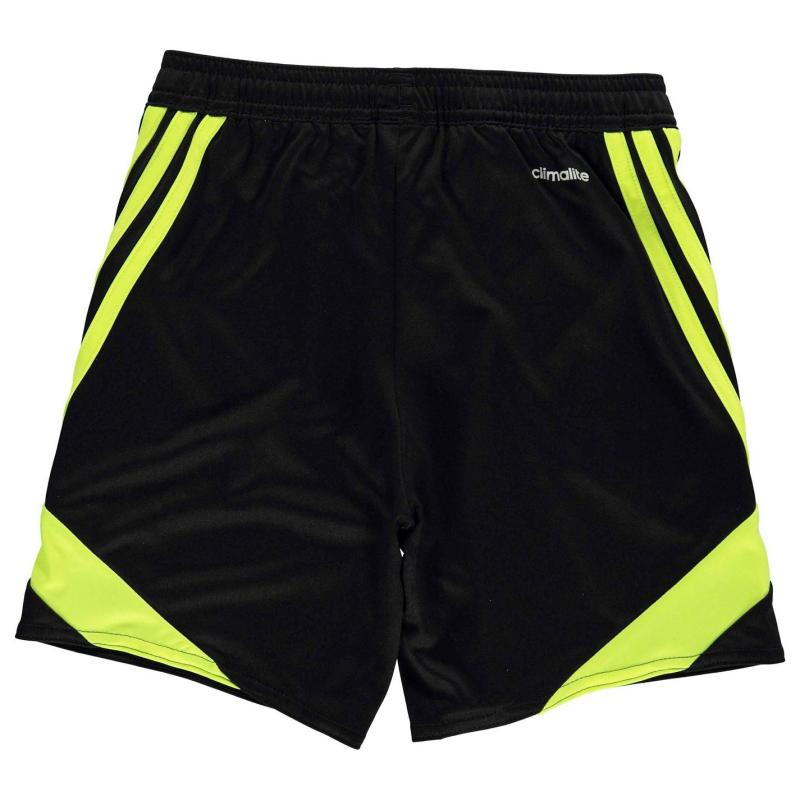 Kraťasy adidas 3 Stripe Nova Shorts Junior Boys Black/SolYellow