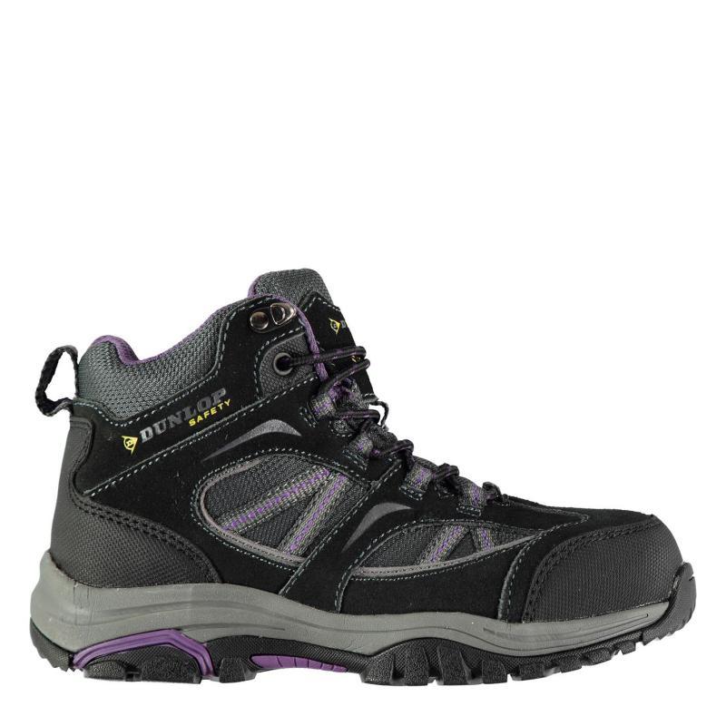 Dunlop Colorado Ladies Steel Toe Cap Safety Boots Charcoal/Purple