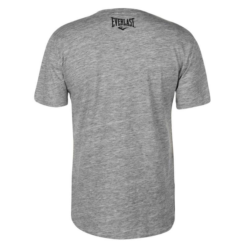 Tričko Everlast Zip T Shirt Mens Grey