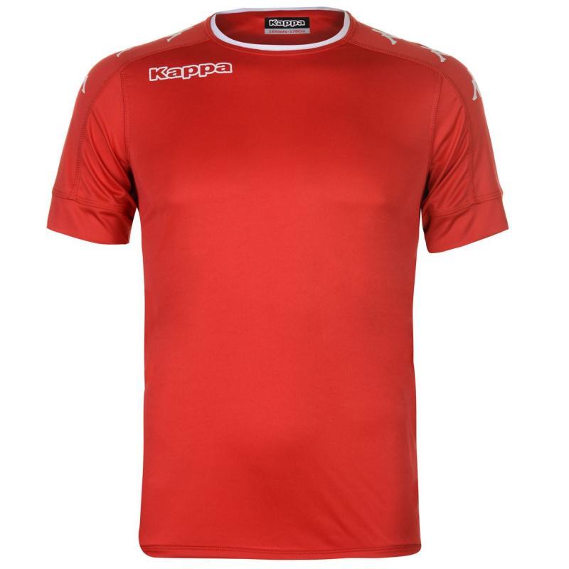 Tričko Kappa Santos Short Sleeve T Shirt Mens Red/White