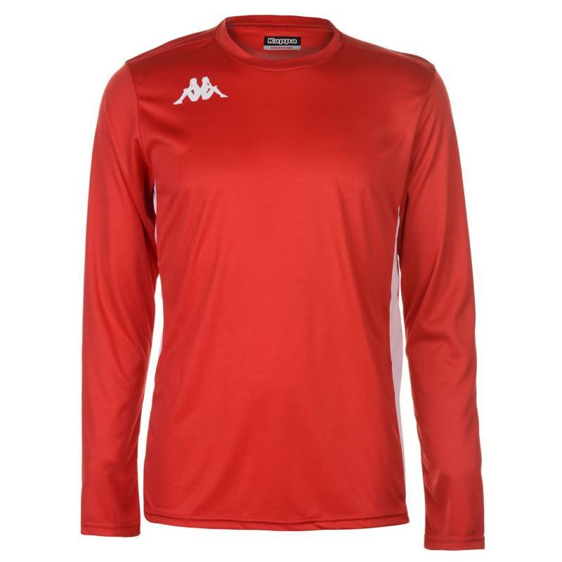 Tričko Kappa Torino Long Sleeve T Shirt Mens Red/White