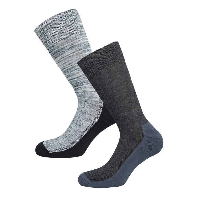 Ponožky Levis Mens 2 Pack LS Crew Socks Red navy