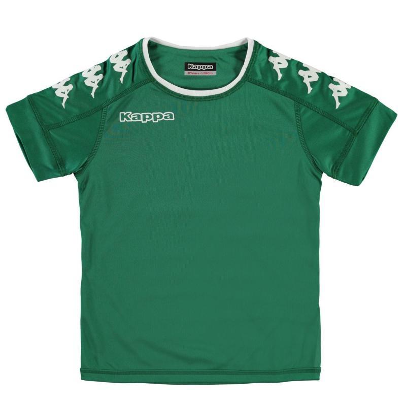 Tričko Kappa Santos Short Sleeve T Shirt Junior Boys Green/White