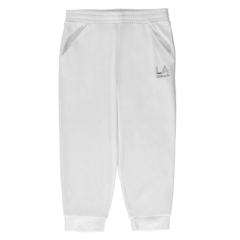 LA Gear three quarter Interlocked Pants Junior Girls White