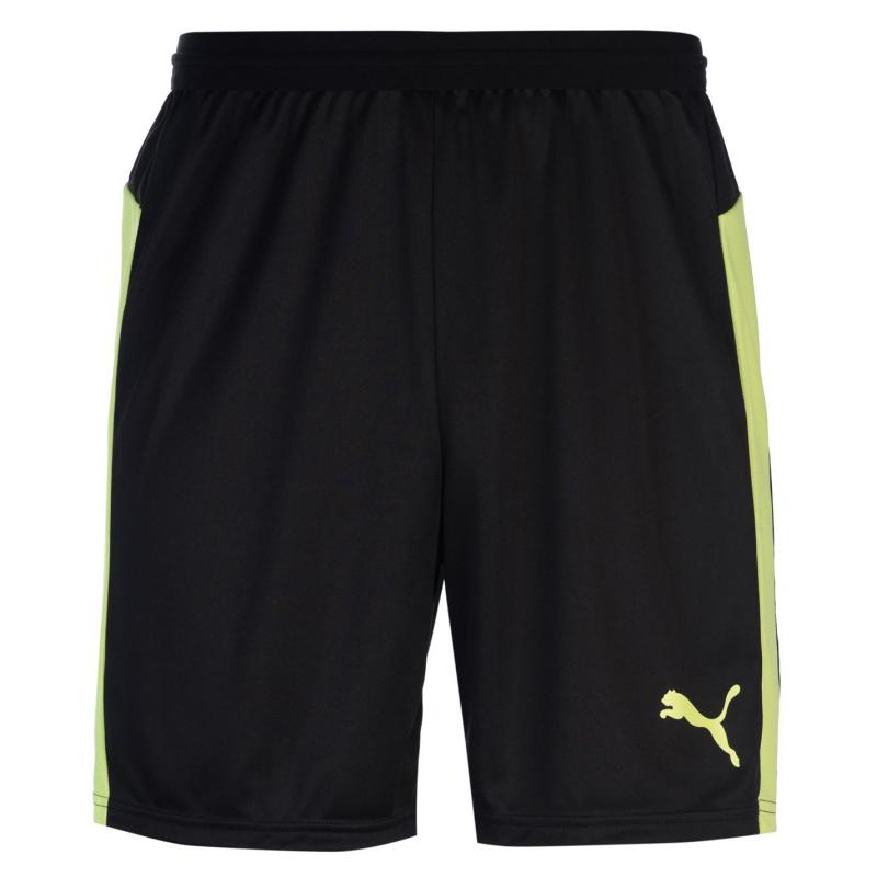 Puma Evo Train Shorts Mens Black/Lemon