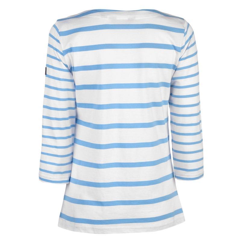 Regatta Parris T Shirt Ladies White Stripe