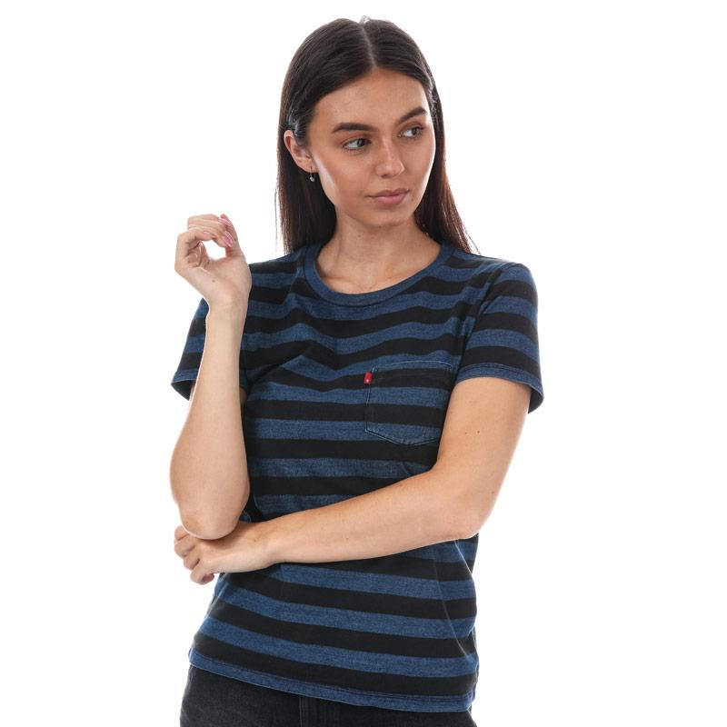 Levis Womens The Perfect Pocket T-Shirt Black