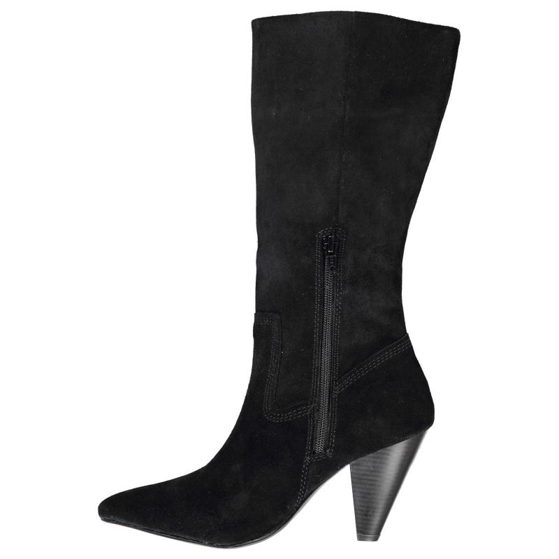Attribute Edgy High Boots Black Suede