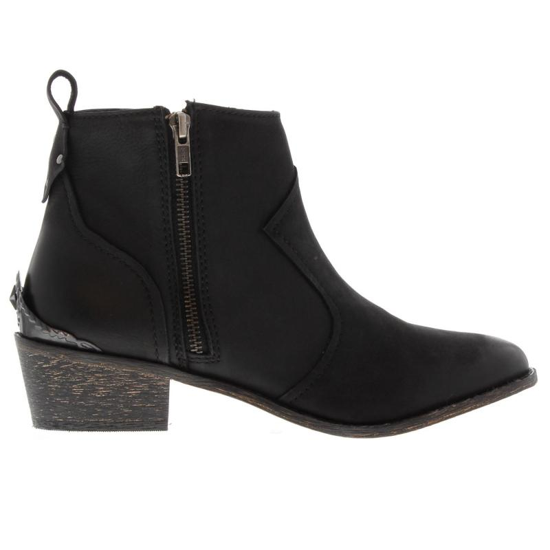 Attribute Gangway Ankle Boots Black Nubuck
