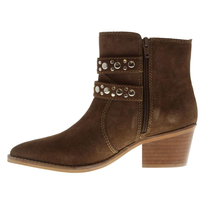 Attribute Irma Studded Ankle Boots Taupe Suede