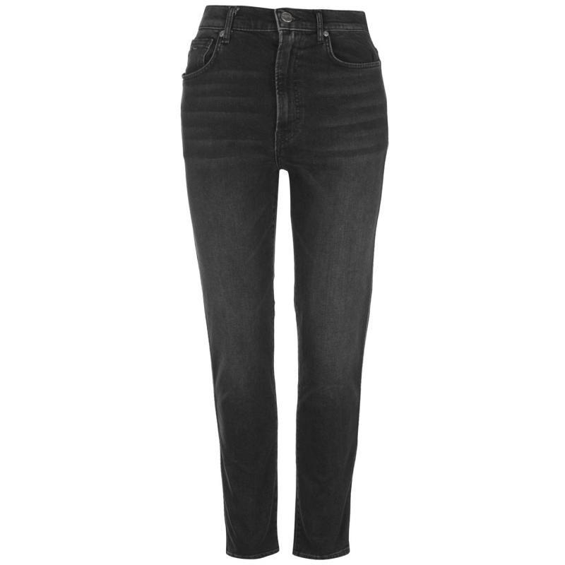 Pepe Jeans Betty High Waist Straight Mom Jeans Blue Denim