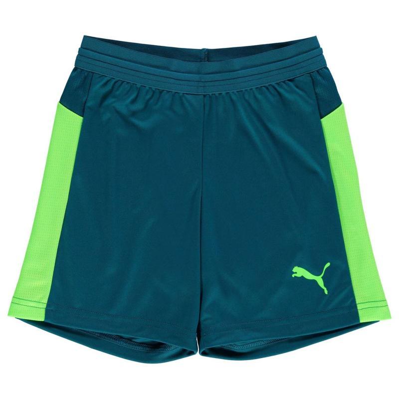 Kraťasy Puma Evo Training Football Shorts Junior Boys Lagoon/Green