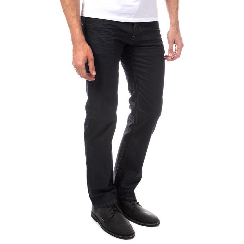 Eto Mens EM582 Loose Fit Jeans Black