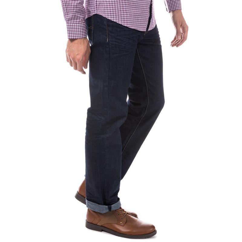Eto Mens EM582 Loose Fit Jeans Blue