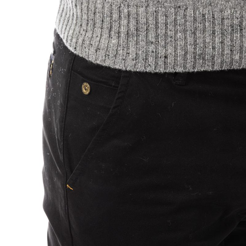 Eto Mens EM602 Slim Stretch Chino Black