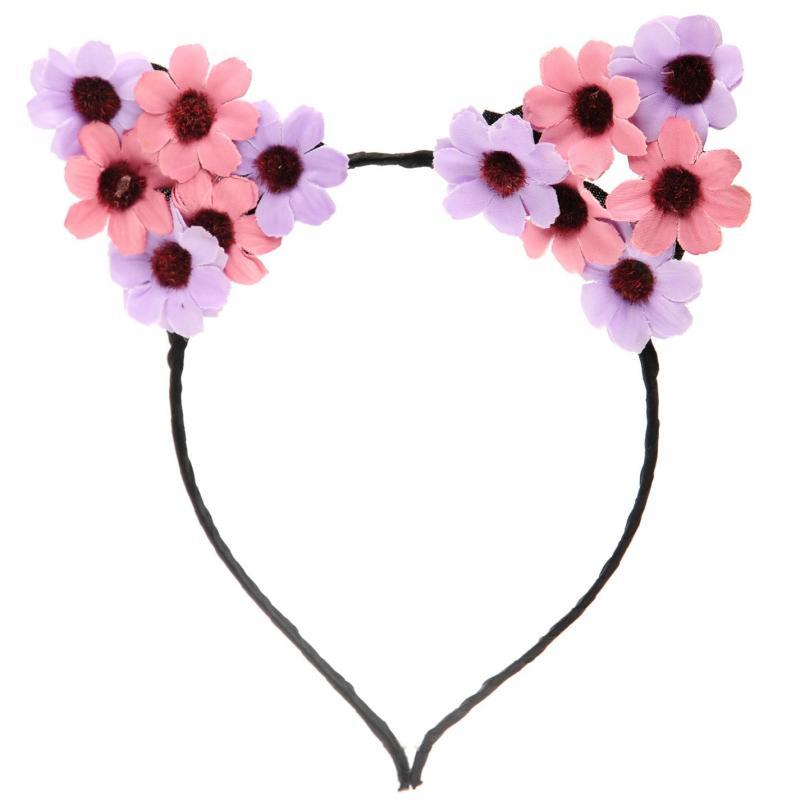 Miso Flower Ears Headband Ladies Purple