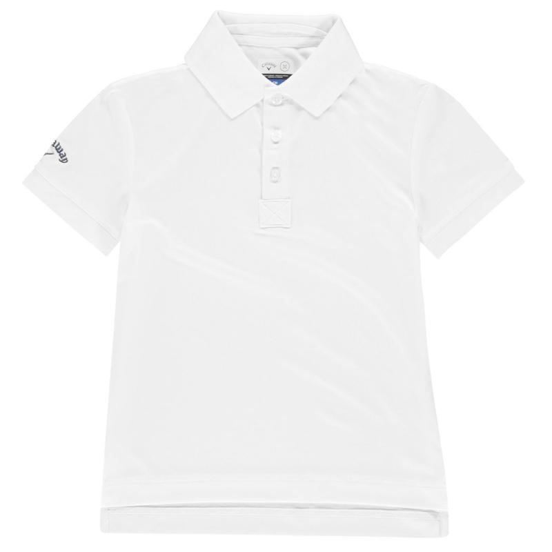 Tričko Callaway Solid Polo Shirt Junior Boys White