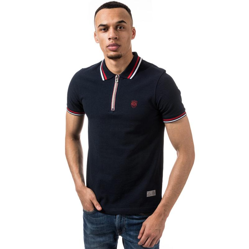 883 Police Mens Amateur Polo Shirt Navy