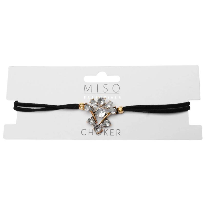 Miso Jewel Choker Necklace Ladies Black