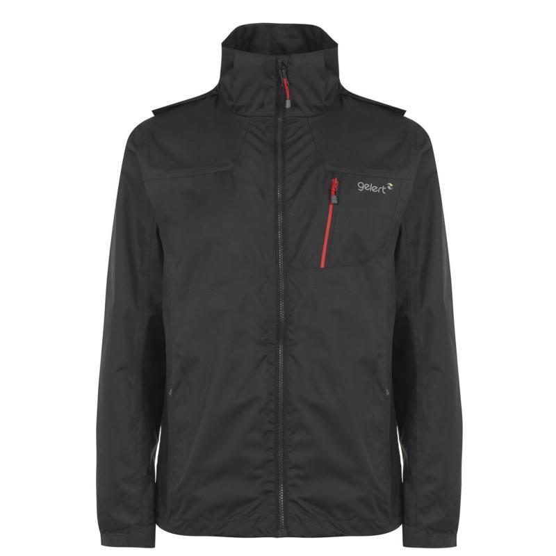 Gelert Horizon Waterproof Jacket Mens Char/Gelert Red