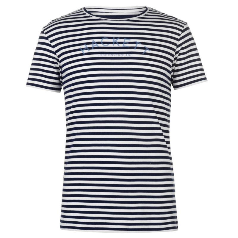 Tričko Hackett Mr Classic Stripe T Shirt Navy