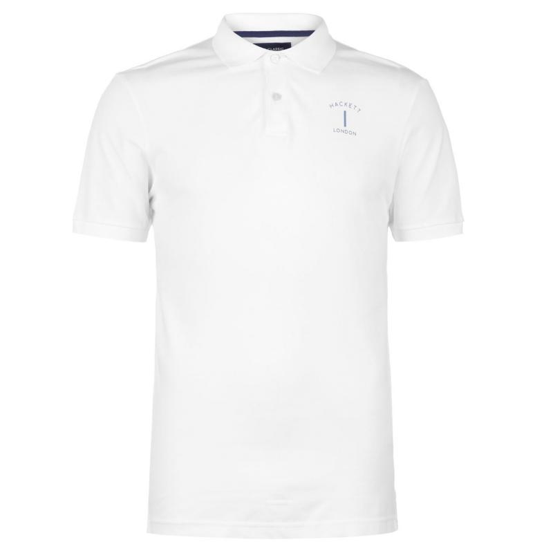 Hackett Mr Classic Polo Shirt White
