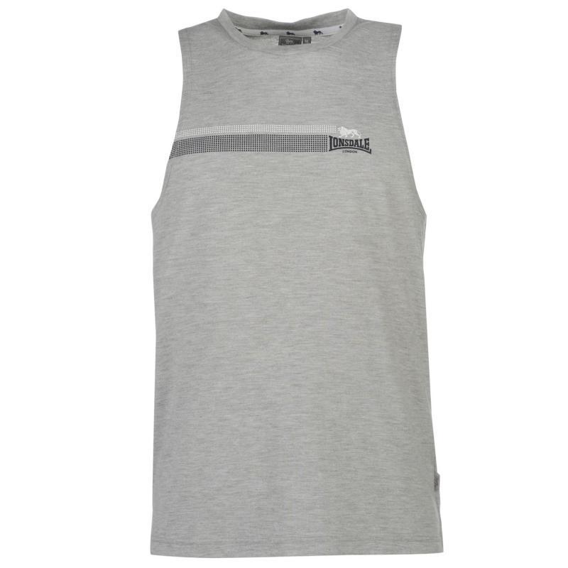 Tílko Lonsdale Muscle Vest Mens Black/White