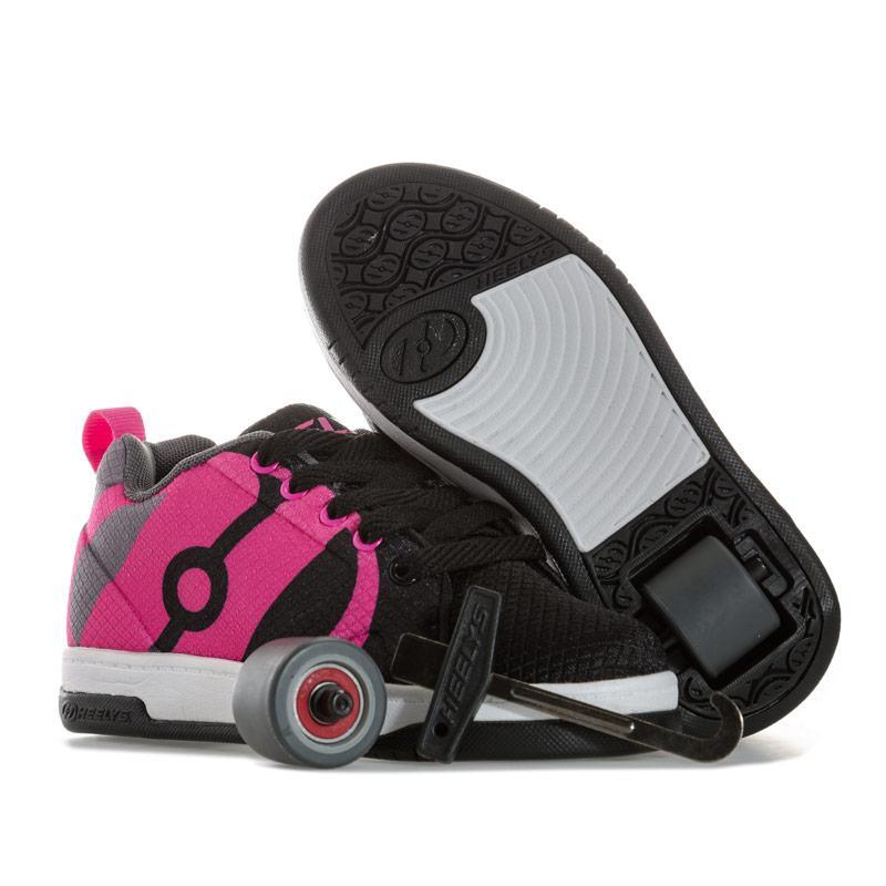 Heelys Children Girls Repel Skate Shoe black pink