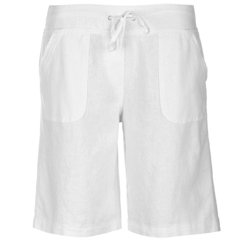 Full Circle Linen Shorts Ladies White