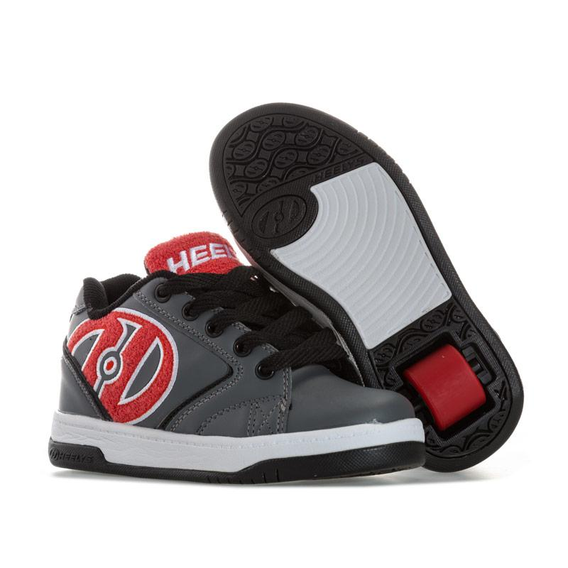 Boty Heelys Junior Boys Propel Terry Skate Shoe Grey red