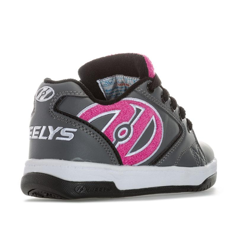 Heelys Junior Girls Propel Terry Skate Shoe Grey pink