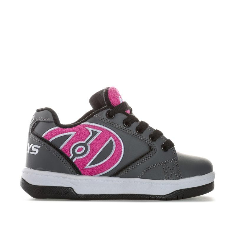 Heelys Junior Girls Propel Terry Skate Shoe Grey pink
