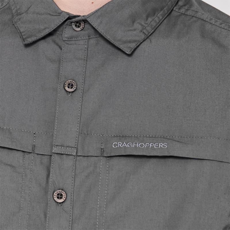 Craghoppers Kiwi Trek Long Sleeve Shirt Mens Oatmeal