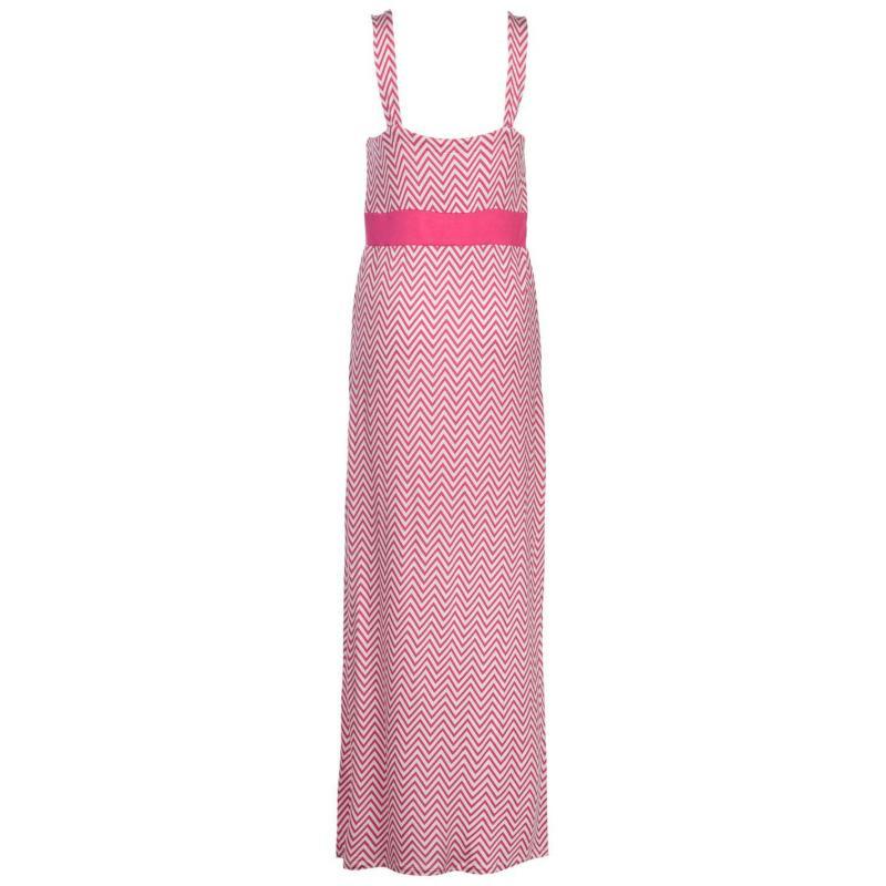 Šaty Full Circle Chevron Maxi Dress Ladies Pink