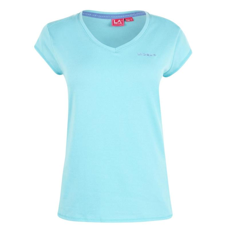 LA Gear V Neck T Shirt Ladies Bright Blue