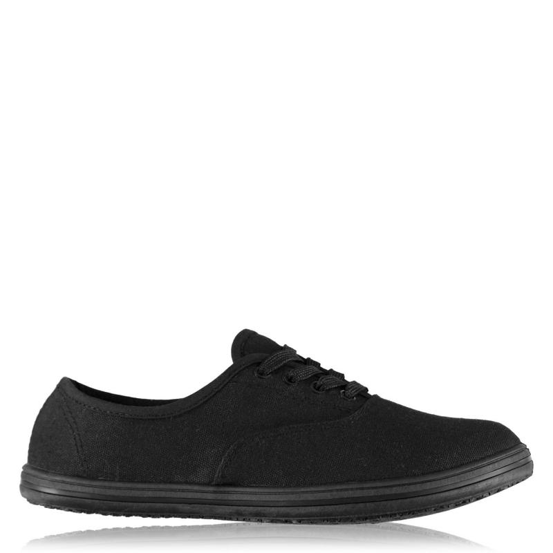 Boty Slazenger Junior Canvas Pumps Black