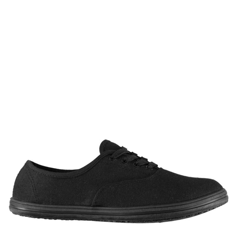 Obuv Slazenger Ladies Canvas Pumps Black
