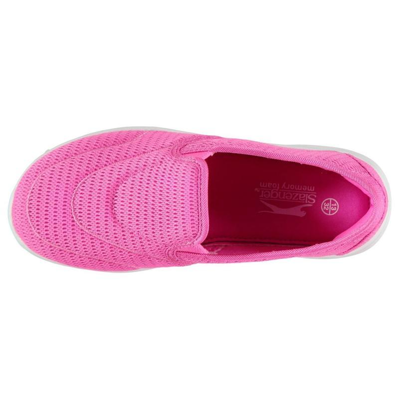Slazenger Zeal Childrens Slip On Shoes Pink/White