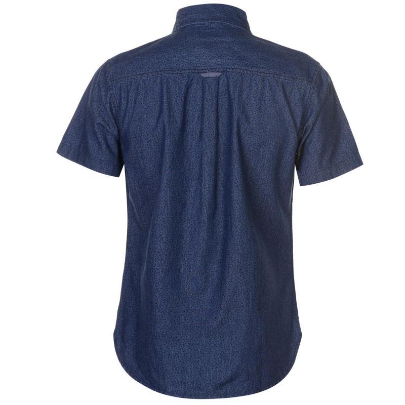 SoulCal Short Sleeve Fashion Shirt Mens Mid Blue