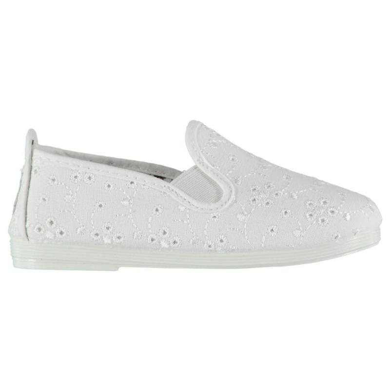 Flossy Anica Slip On Plimsolls White