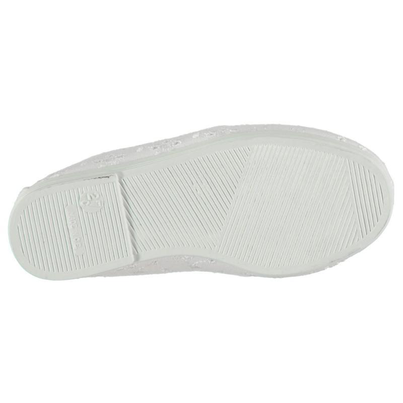 Flossy Anica Slip On Plimsolls White