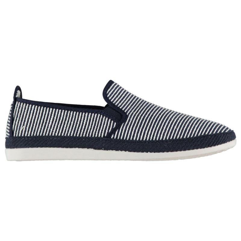 Flossy Brieva Slip On Shoes Navy Stripes
