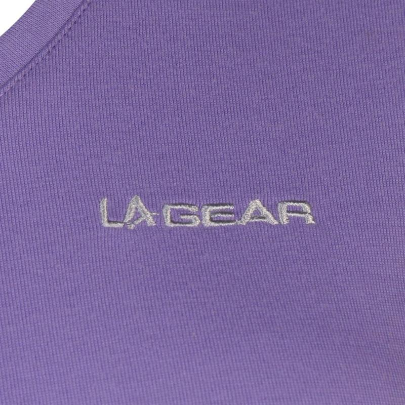 LA Gear V Neck T Shirt Ladies Lilac