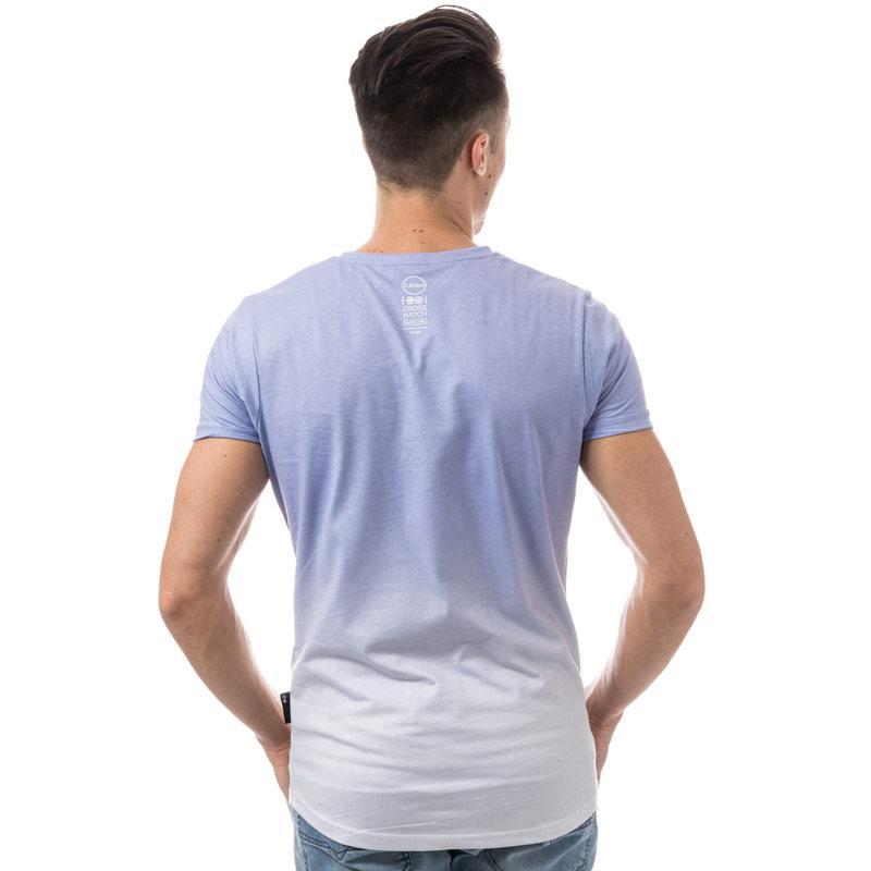 Tričko Crosshatch Black Label Mens Cheetwood Ombre T-Shirt Blue